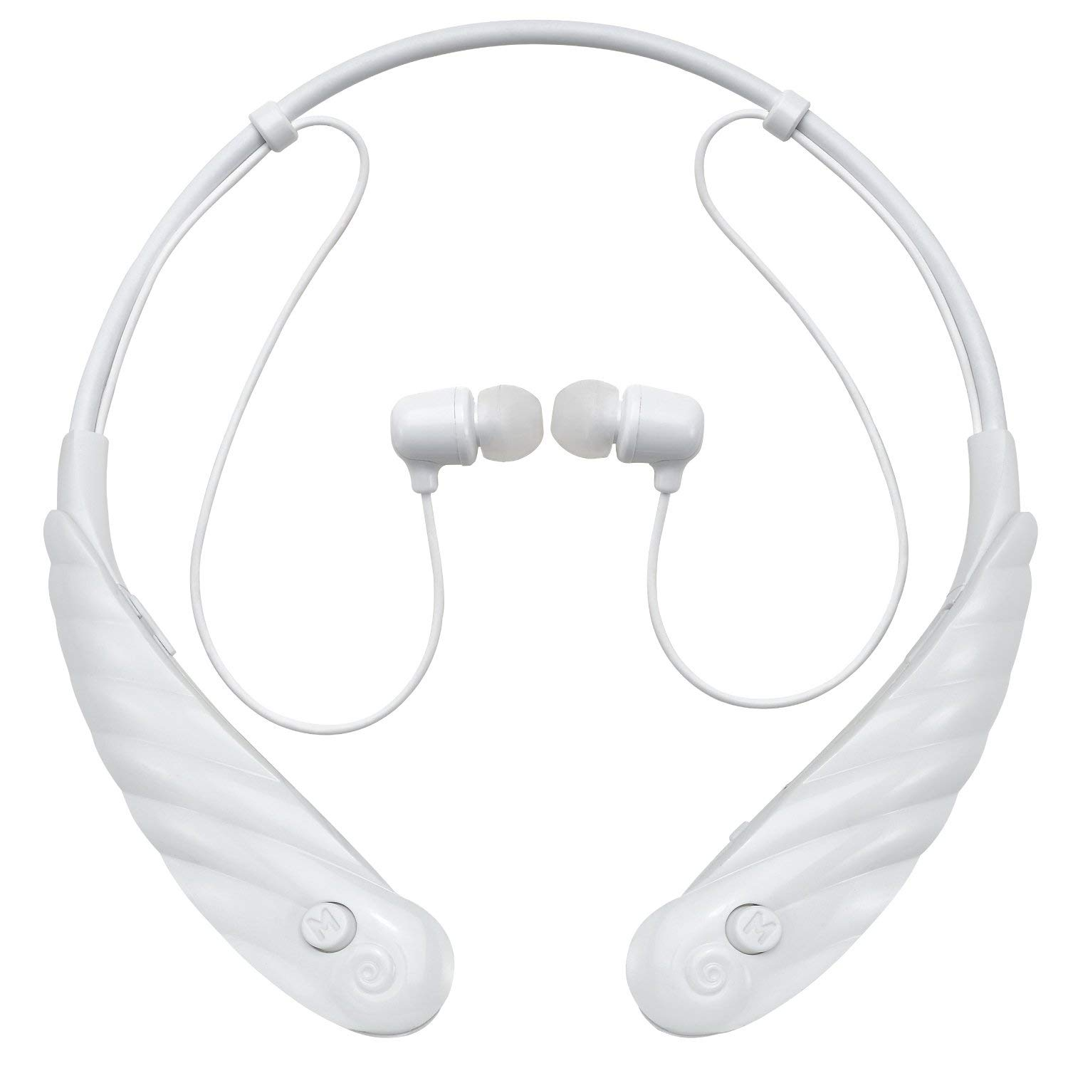 DTMCare Mimitakara Bluetooth Rechargeable Personal Sound Hearing Amplifier. Active White. FDA Registered.