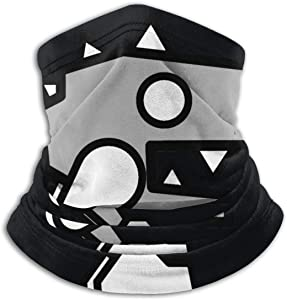 Geometry Dash Microfiber Neck Warmer Face Mask Ski Mask Neck Gaiter Face Scarf Outdoor Sports