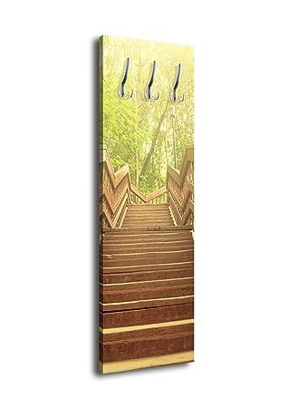 wandmotiv24 Perchero con diseño jardín Escaleras g277 40 x ...