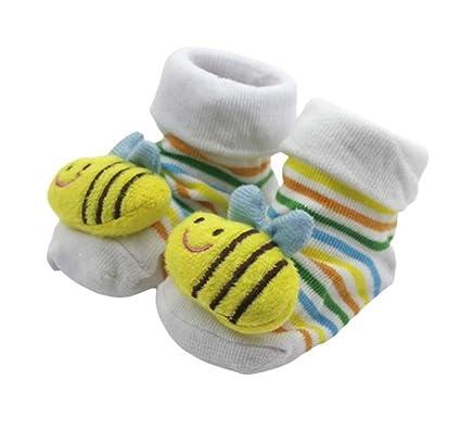 Gespout Calcetines Bebés Algodón Calcetines Térmicos Párrafo Corto para Mujer Bebé Chica Otoño Cómodo Infancia Antideslizantes
