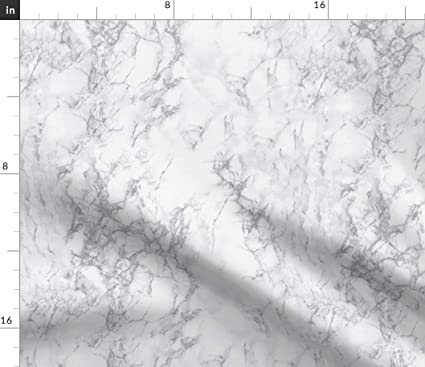 Spoonflower Marble Fabric - Grey Home Decor Marble Stone by Kimsa Printed  on Linen Cotton Canvas Ultra Fabric by The Yard