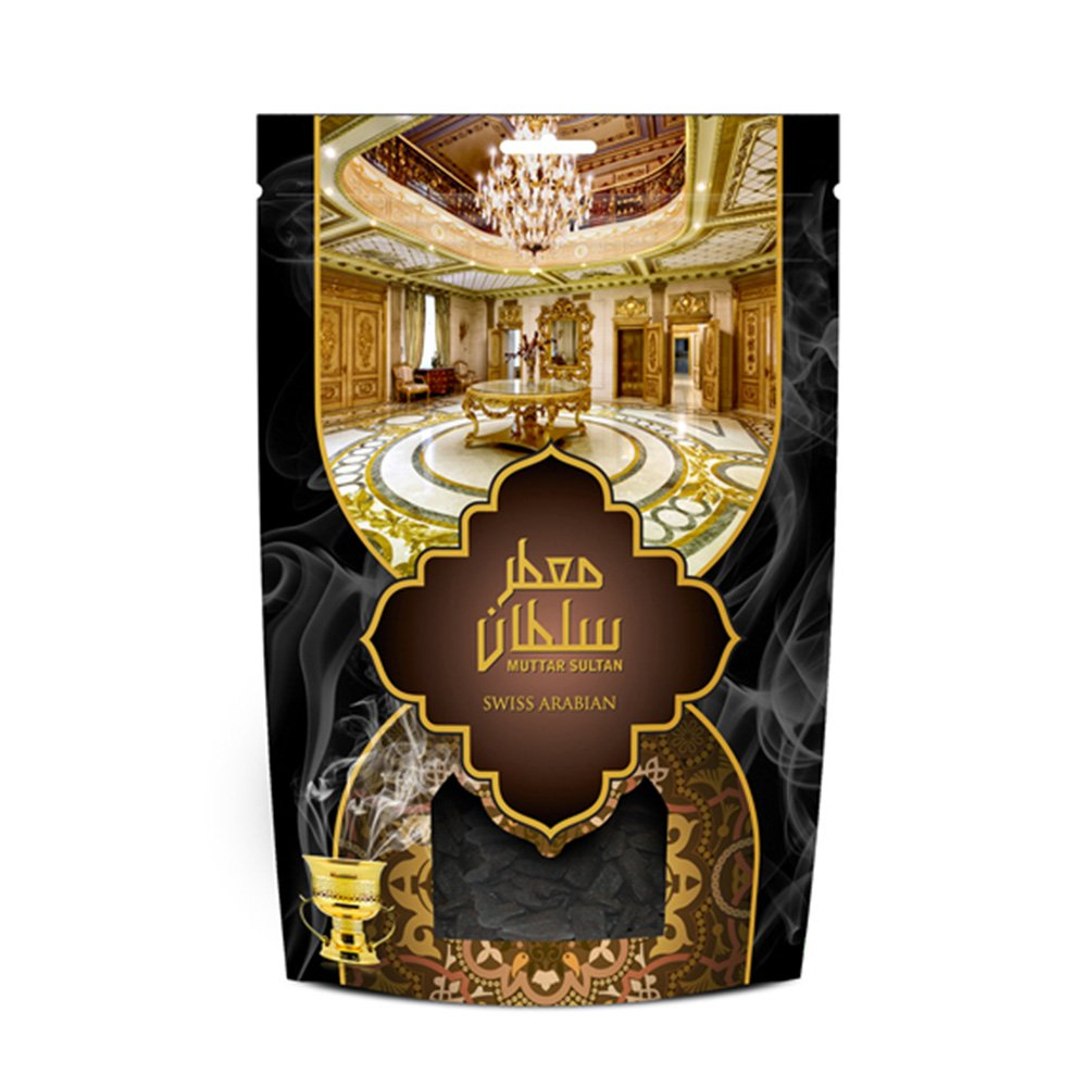 Muattar Sultan (250g/.55 lb) Oudh Wood Bakhoor Incense | Scented Exotic Arabic Bukhoor | Use with Traditional Middle Eastern Charcoal/Electric Burner | by Oud Perfume Artisan Swiss Arabian by SWISSARABIAN