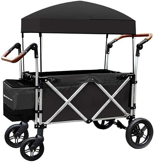 HYL Carrito de Jardín Multifuncional plegable de jardín carretilla carro portátil for trabajo pesado carro con el pabellón multifuncional carro de compras for la compra de tracción acampar al aire lib: Amazon.es: