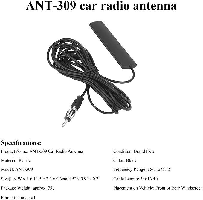Kennso Ant 309 Autoradio Antenne Universal Für Fm Elektronik