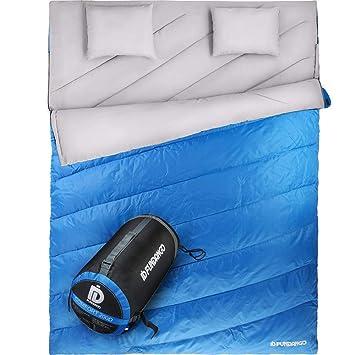 FUNDANGO - Saco de Dormir Doble para 2 Personas, con sobre ...