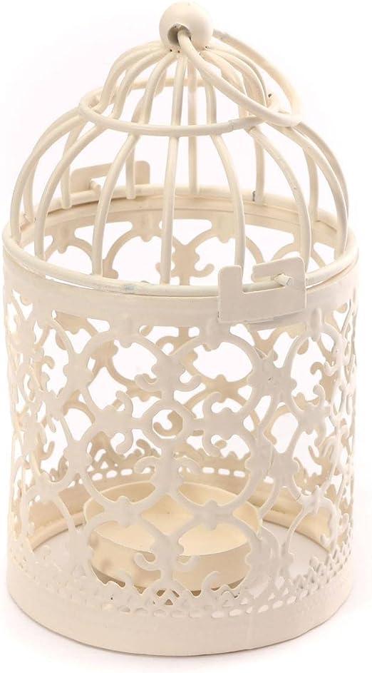 Metal Hollow Birdcage Votive Candle Holder Hanging Lantern Wedding Home Decor
