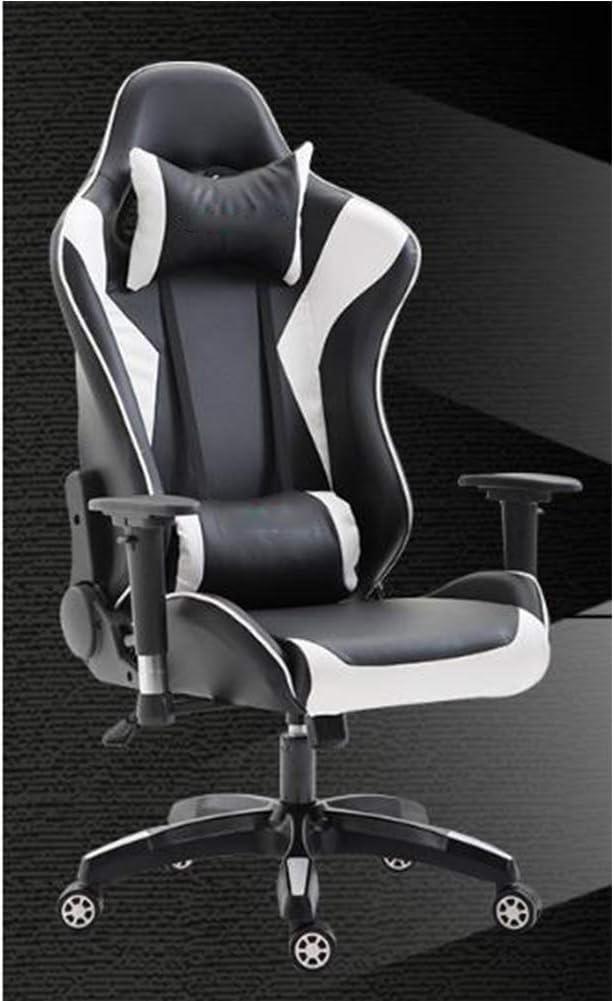Silla de juego silla de oficina con respaldo alto ajustable, silla de juego silla de anclaje silla de computadora de juego silla elevadora silla de oficina silla ergonómica blanco fantasma-PhantomWhi