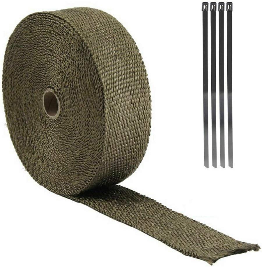 1 rollo de fibra aislante de 10 m Rollo de cinta aislante t/érmico para motocicleta TTAototech