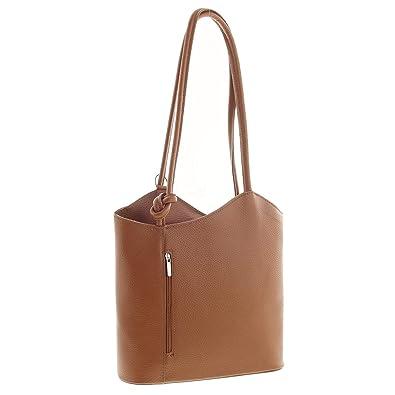 f7c36affd7f3f MIO Leichter Damen Leder Rucksack Handtasche Schultertasche Henkeltasche  Daypack Tagesrucksack Backpack Frauen