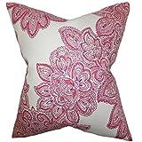 The Pillow Collection Haldis Floral Floor Pillow Rose