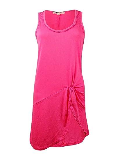 6abfc7e871 Miken Women's Crochet-Trim Faux-Twist Slit Knit Swim Cover at Amazon  Women's Clothing store: