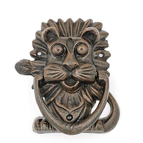 Golpeador de puerta de cabeza de león, golpeador de puerta ...