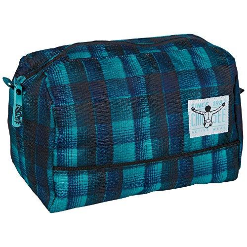 Chiemsee Kulturtasche Shower Bag, Checky Chan Blue, 26.5 x 16 x 18 cm, 7 Liter, 5021013