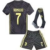 10e28c288 Juventus Kids Youth Away  7 Ronaldo Soccer Jersey and Shorts and Socks 18