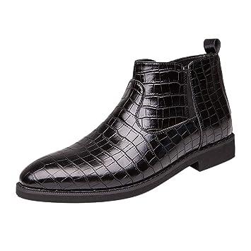 Vaycally Zapatos con cordones Oxford para hombre con ...