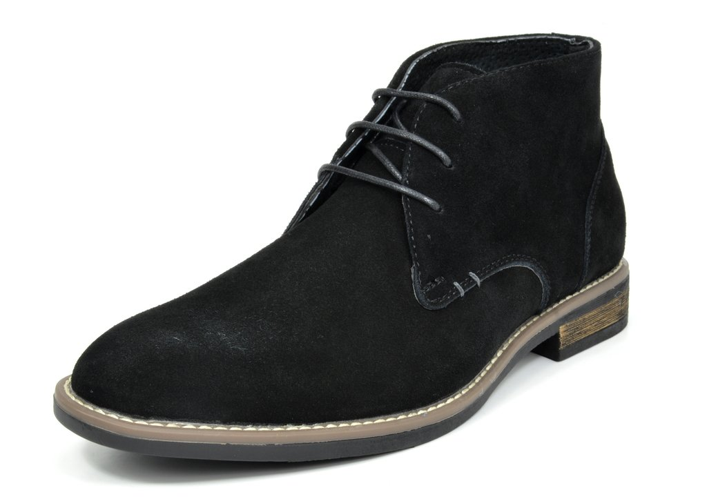 Bruno Marc Men's URBAN-01 Black Suede Leather Lace up Oxfords Desert Boots - 11 M US by BRUNO MARC NEW YORK