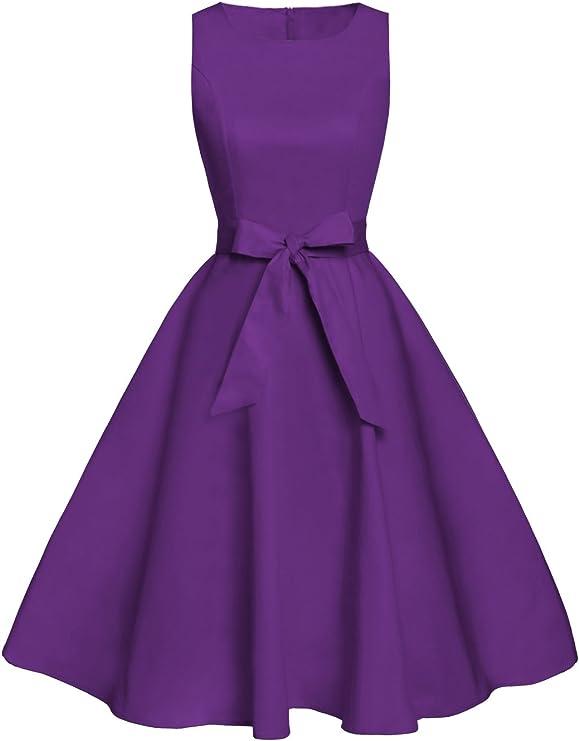 TALLA 4XL. FAIRY COUPLE 50s Vestido de Partido Floral Retro del Oscilación del Cóctel del Vintage con el Arco DRT017 Negro 4XL