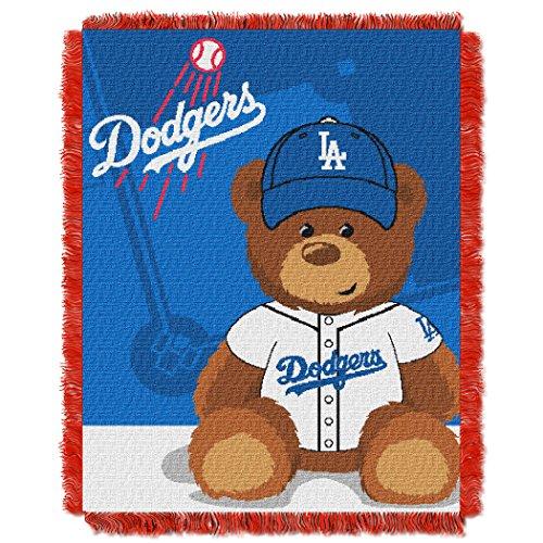 or League Baseball, Field Bear Baby 36 x 46 Triple Woven Jacquard Throw ()