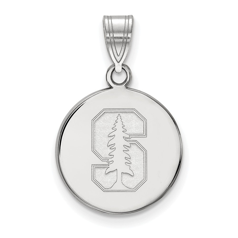 Jewel Tie 925 Sterling Silver Stanford University Medium Disc Pendant