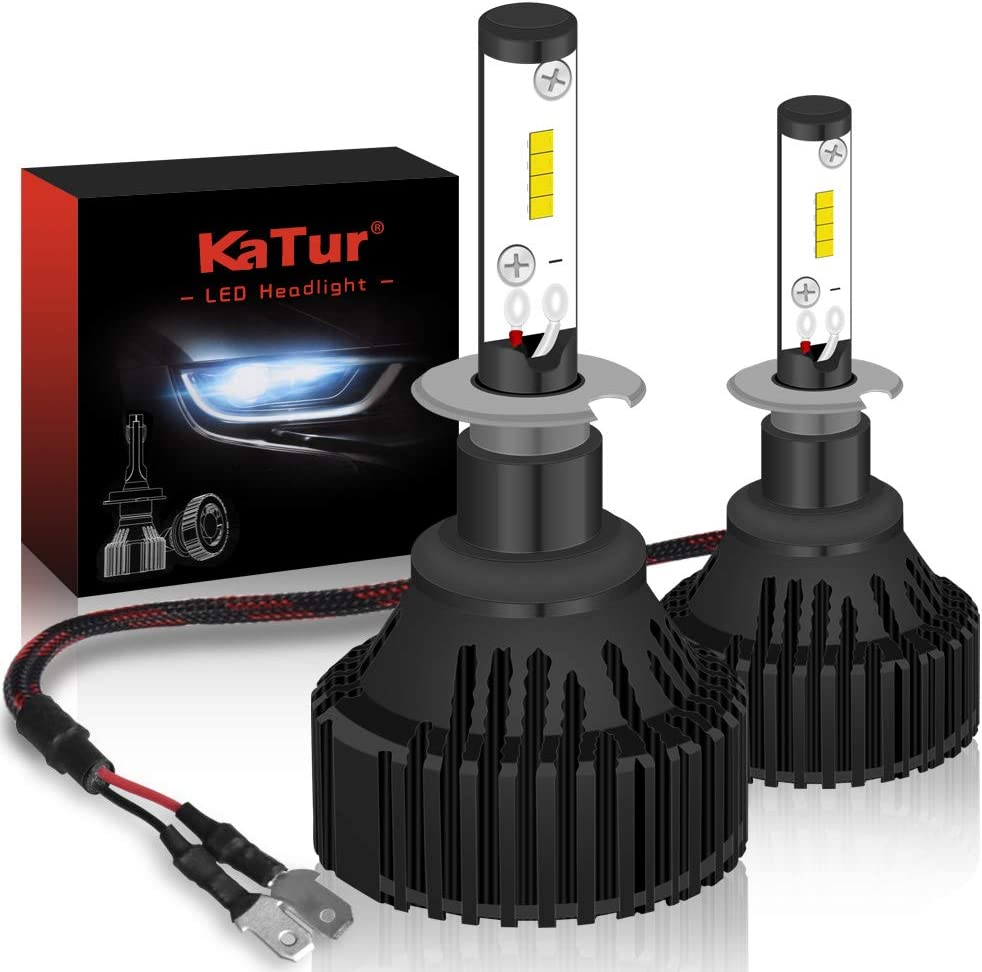 3 Yr Warranty KATUR H4 9003 LED Headlights Bulbs Hi//Lo Beam Super Bright CREE Chips 16000LM Waterproof All-in-One LED Headlight Conversion Kit 60W 6500K Xenon White
