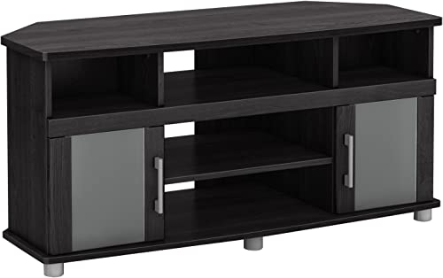 City Life Corner TV Stand – Fits TVs Up to 50 Wide – Gray Oak – by South Shore