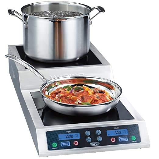 Amazon.com: Waring WIH800 Double Commercial Induction Range with Step Up - 208/240V, 3600W: Kitchen & Dining