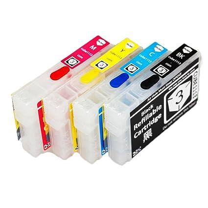 oyat® 4 x vacíos, rellenables, cartucho de tinta compatible para ...