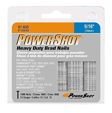Arrow Fastener 97 030 Genuine PowerShot 9 16 Inch Brad Nails 1 600