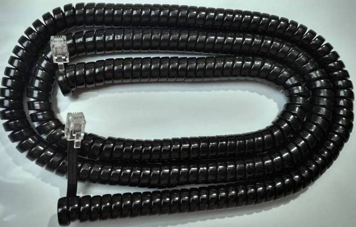 Lot of 5 Black 25' Ft Long Handset Cords for RCA Phone Executive Series 2 3 4 8 Line ViSys 25215 25260 25201 25204 25205 25214 25255 25270 2line 4line 8line (5-Pack) by DIY-BizPhones