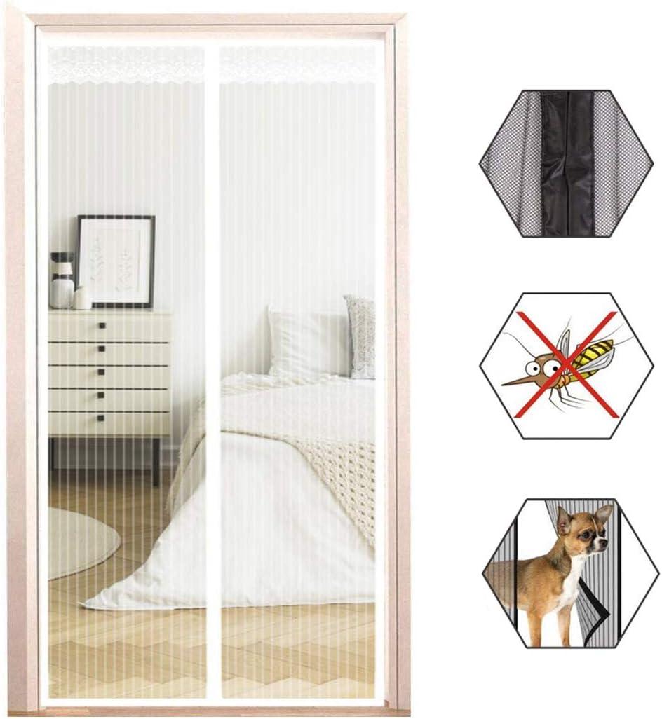 Mosquitera para puerta, protección contra insectos, cortina magnética, cierre automáticamente, para puertas corredizas/de vidrio/porche,#3,95x230cm(37.4x90.55in)