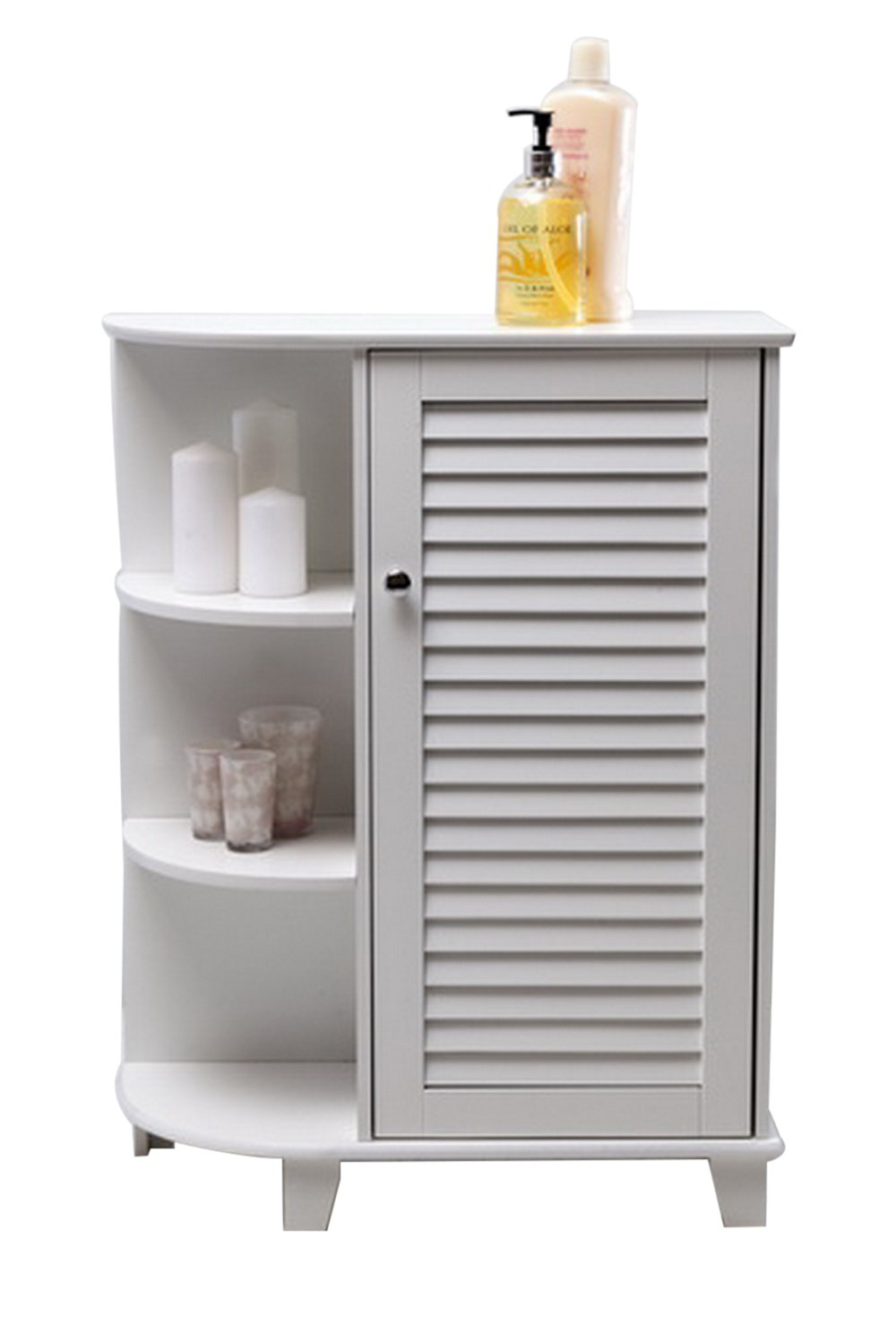 3 tier bathroom storage unit compact corner shelf bathroom for Floor standing corner bathroom cabinet