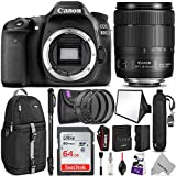 Canon EOS 80D DSLR Camera with EF-S 18-135mm f/3.5-5.6 IS USM Lens w/Advanced Photo and Travel Bundle