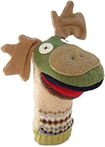 Cate & Levi - Hand Puppet - Premium Reclaimed Wool - Handmade in Canada - Machine Washable (Moose)