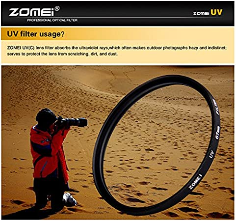 MeterMall New for ZOMEI for Ultra-Violet UV Filter Lens Protector for SLR DSLR Camera 72mm