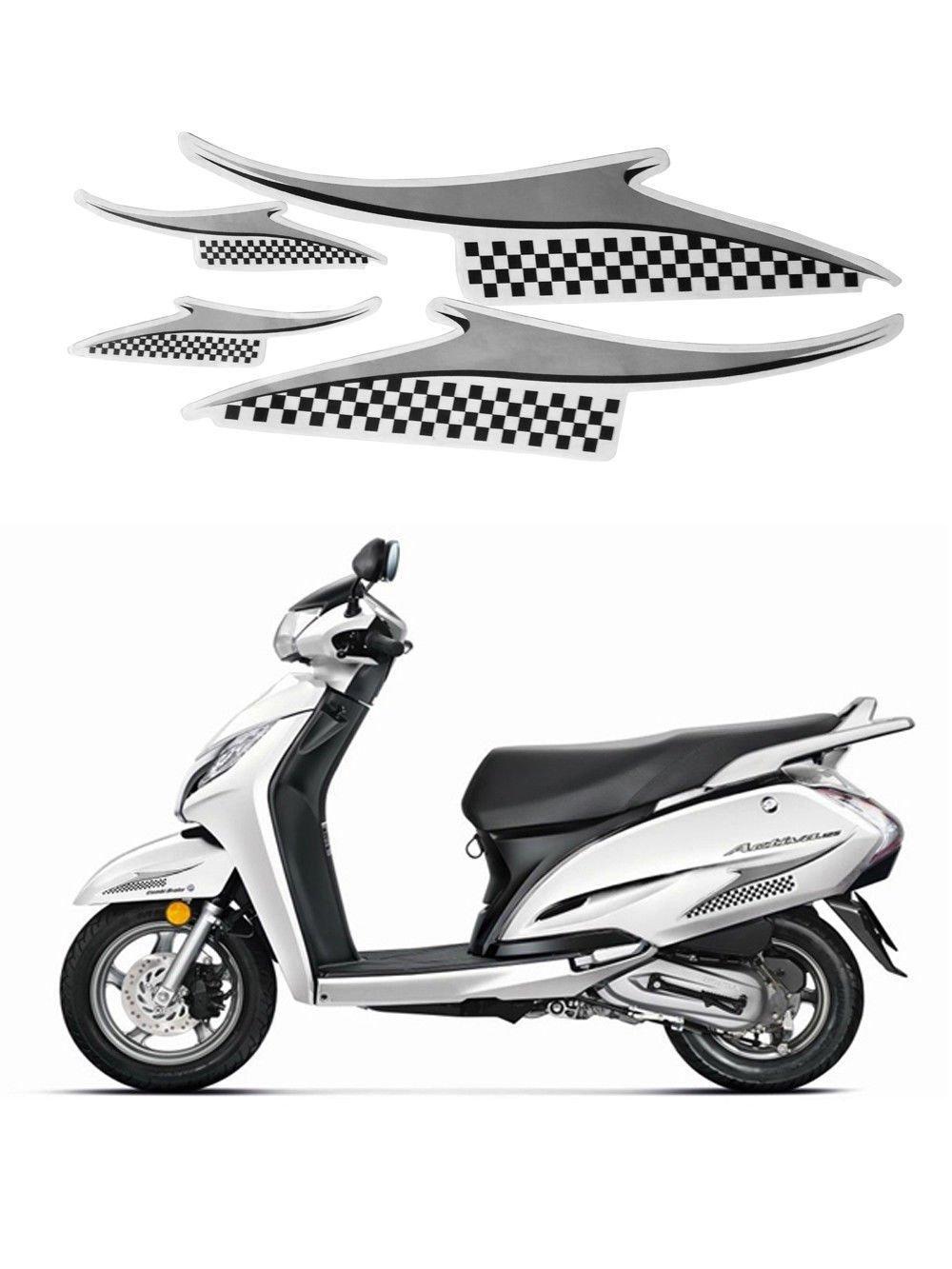 1 Set Scooter Graphics 2 Side Decal Grey Sticker For Honda Dio Bike Stickers Design Car Motorbike
