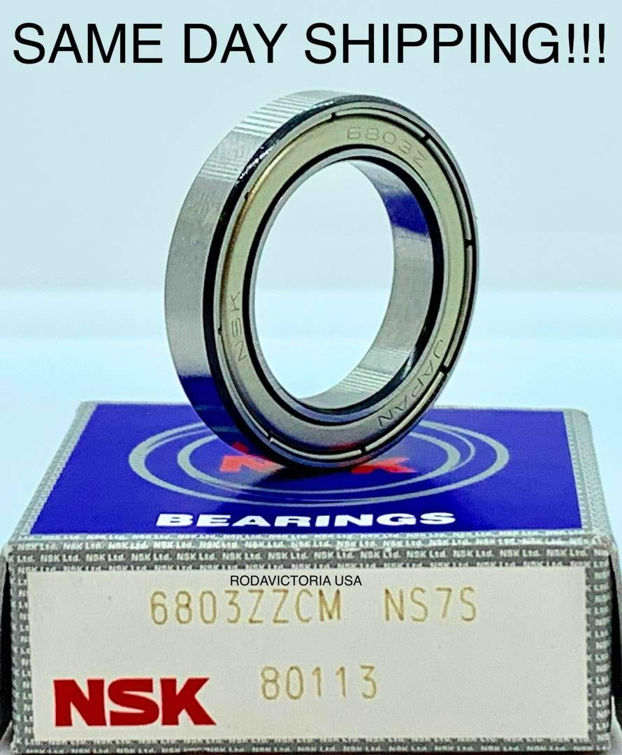 Pack of 2 6803 61803 17x26x5mm ZZ Thin Section Deep Groove Ball Bearing