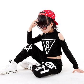 b35a9cf6c Voleseni™ Girls Children Modern Jazz Hip-Hop Dancewear Kids Dance Costumes  Top&Pants (160cm