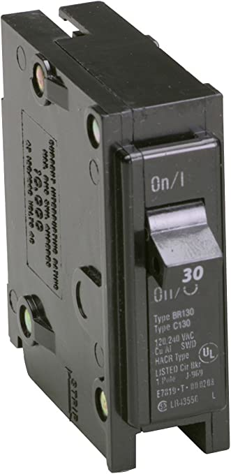 Cutler Hammer CH130 Single Pole 120V 30 Ampv Plug-On Circuit Breaker