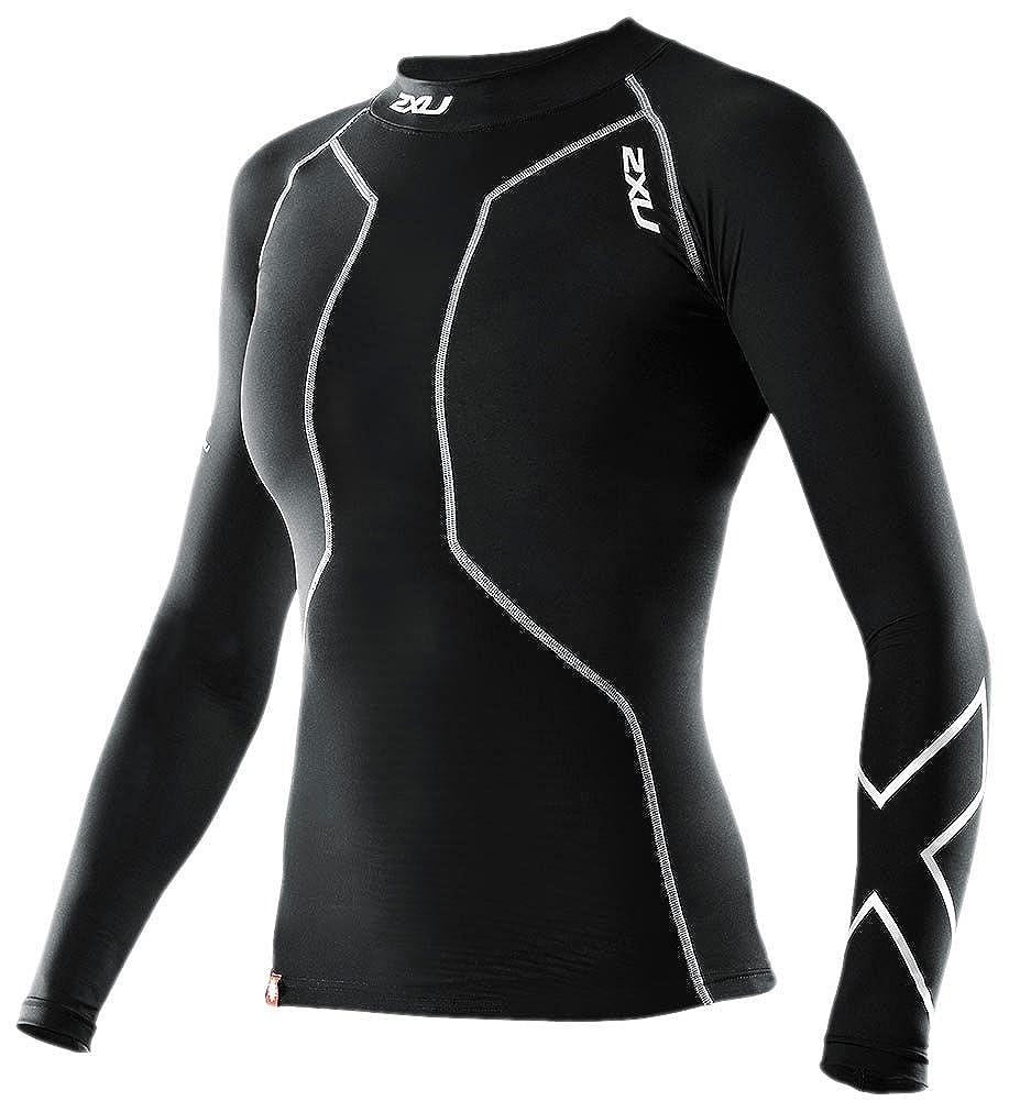 (ツータイムズユー)2XU Women's Swim Recovery Compression Top B00591XYQM BLACK/BLACK US XS-(日本サイズS相当)