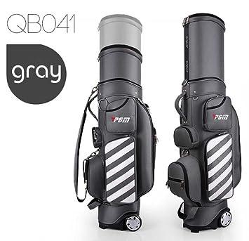 PGM - Bolsa de transporte para palos de golf, retráctil, unisex, con ruedas, gris: Amazon.es: Deportes y aire libre