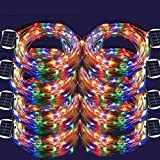 LED String Lights, 100 LED Copper Wire Fairy Blinking Twinkle Starry Waterproof Tree Outdoor Yard Patio Garden And For Holiday Christmas Party Wedding Decorative Light Colorful 8PACK