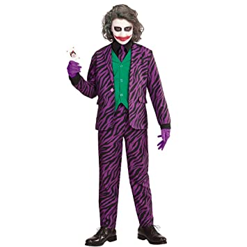 NET TOYS Disfraz Infantil Joker Malo - 135 - 140 cm, 8 - 10 ...