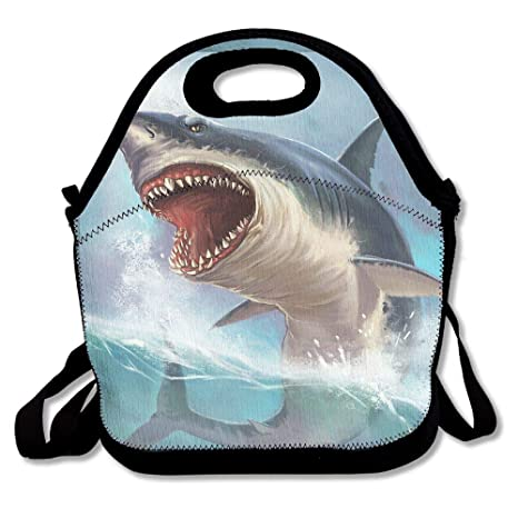 97bbcfd4b34d Amazon.com: Lunch Bag Terrible Shark Lunch Tote Bag With Shoulder ...