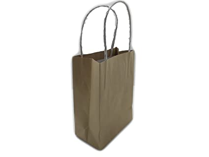 Amazon.com: Shopping Retail Bag, Kraft Paper, Party, Gift ...