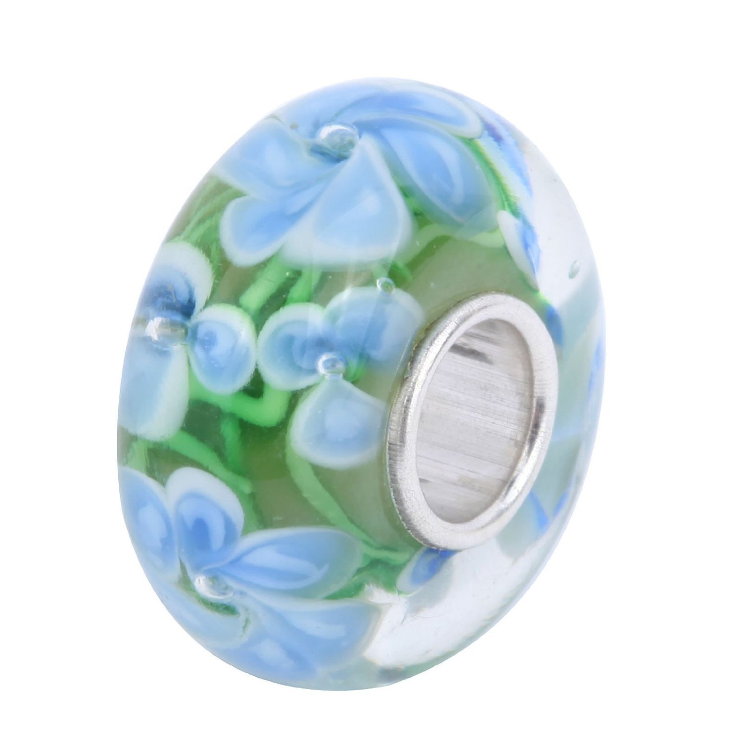 products sterling murano c silver beads flower colorful glass yellow charms pahala