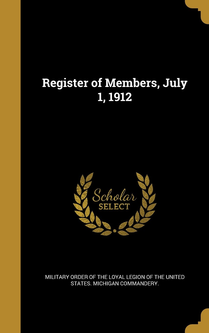 Download Register of Members, July 1, 1912 ebook