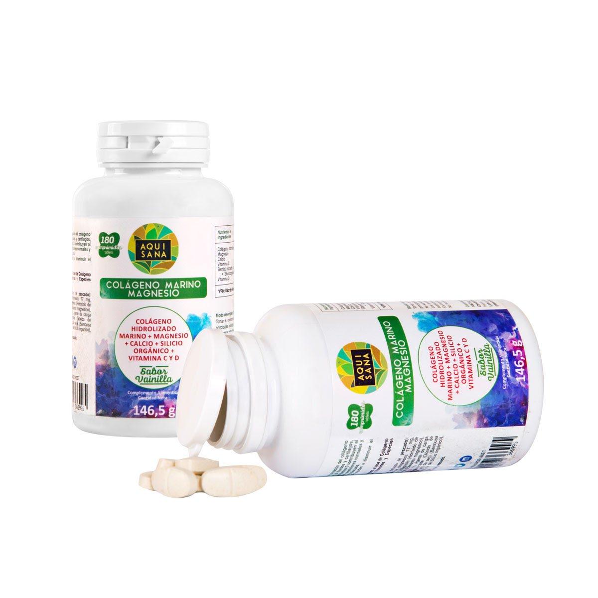 Colágeno hidrolizado con magnesio y calcio para el cuidado de huesos y articulaciones - Colágeno marino con vitaminas C y D para reforzar nuestras defensas ...