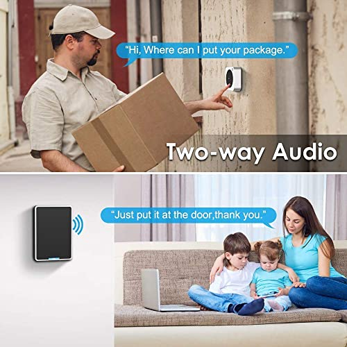 Video Doorbell – NETVUE Wireless Doorbell Camera with Two-Way Talk, IR Motion Detection, Night Vision, Compatible with Alexa Echo Show, WiFi Camera Doorbell with Cloud Storage Wall Plug Included