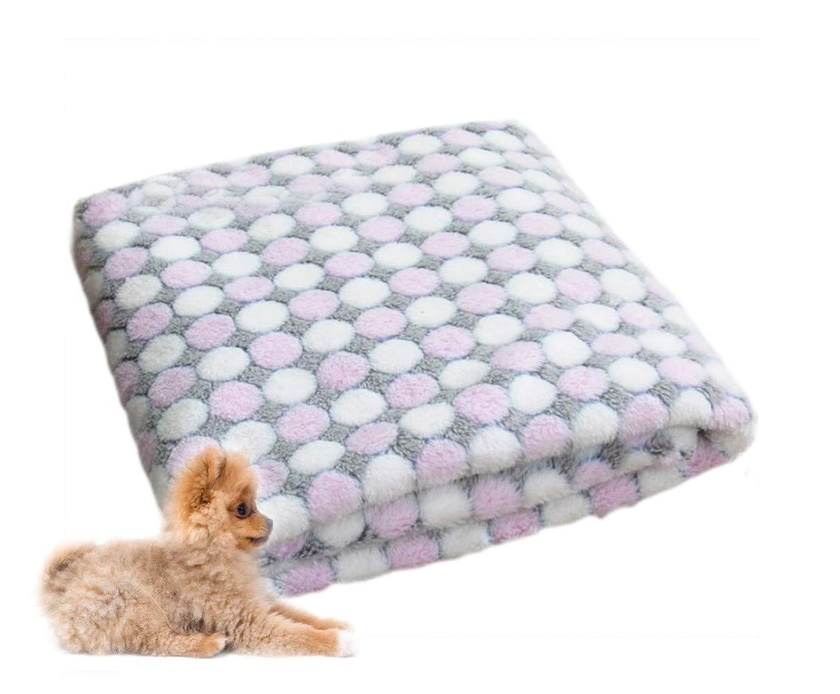Youkara ispessimento calda coperta Pet Pet piccolo medio grande inverno morbido e confortevole per scaldarsi coperta viola, Purple L, 100*80cm