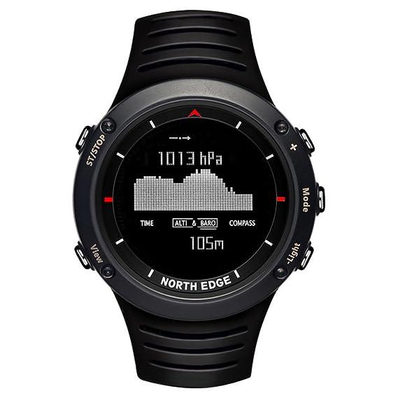 North Edge Reloj Impermeable Digital Escalada Senderismo Deporte Reloj al Aire Libre con brújula altímetro Reloj